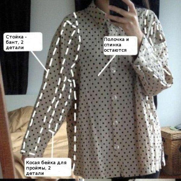Превращения вещей идеи для переделки одежды. Часть 1, фото № 15