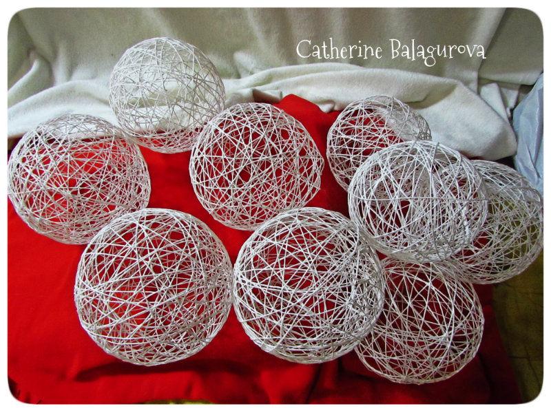 Как сделать шары из ниток и клея ПВА своими руками, фото № 12