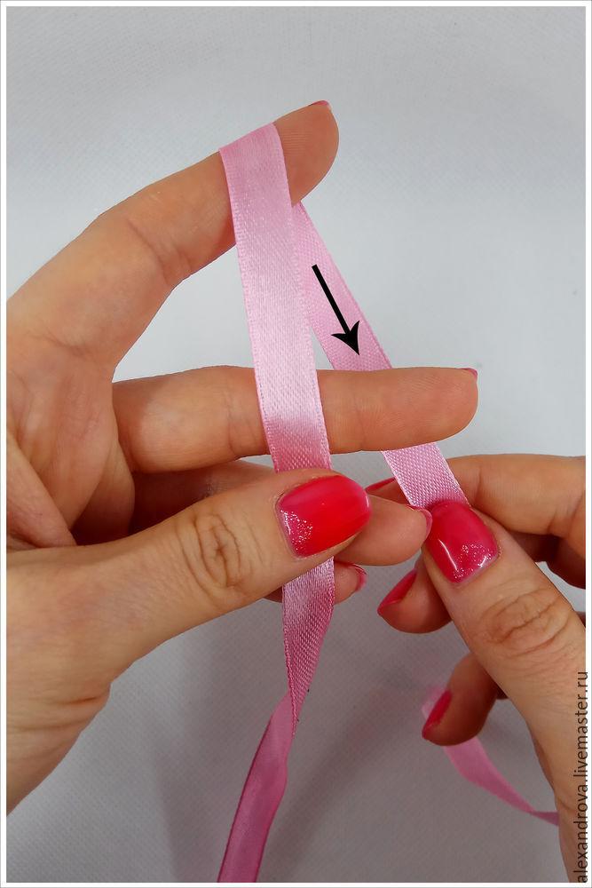 サテンリボンの弓をとても美しく結び付けるか、写真4