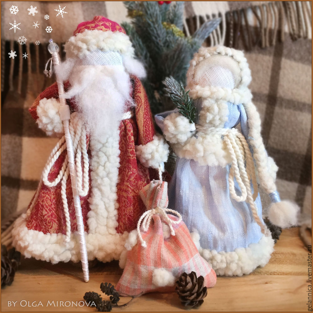 Master Class Santa Claus at Snow Maiden batay sa folk dolls, larawan № 1
