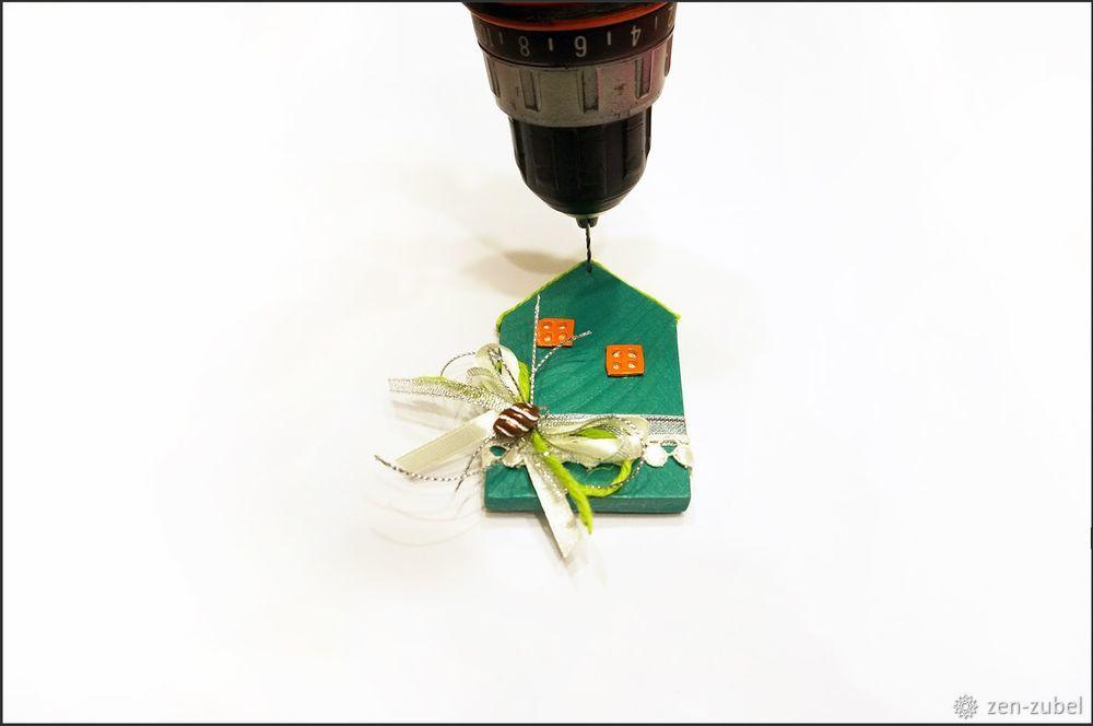 Создаём новогодние игрушки-подвески «Домики», фото № 46