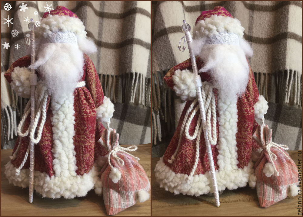 Master Class Santa Claus at Snow Maiden batay sa folk dolls, larawan № 29