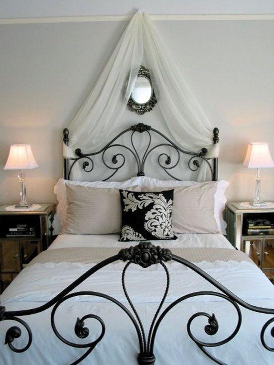 Enkla idéer för baldakiner i sovrummet och inte bara foto nummer 20