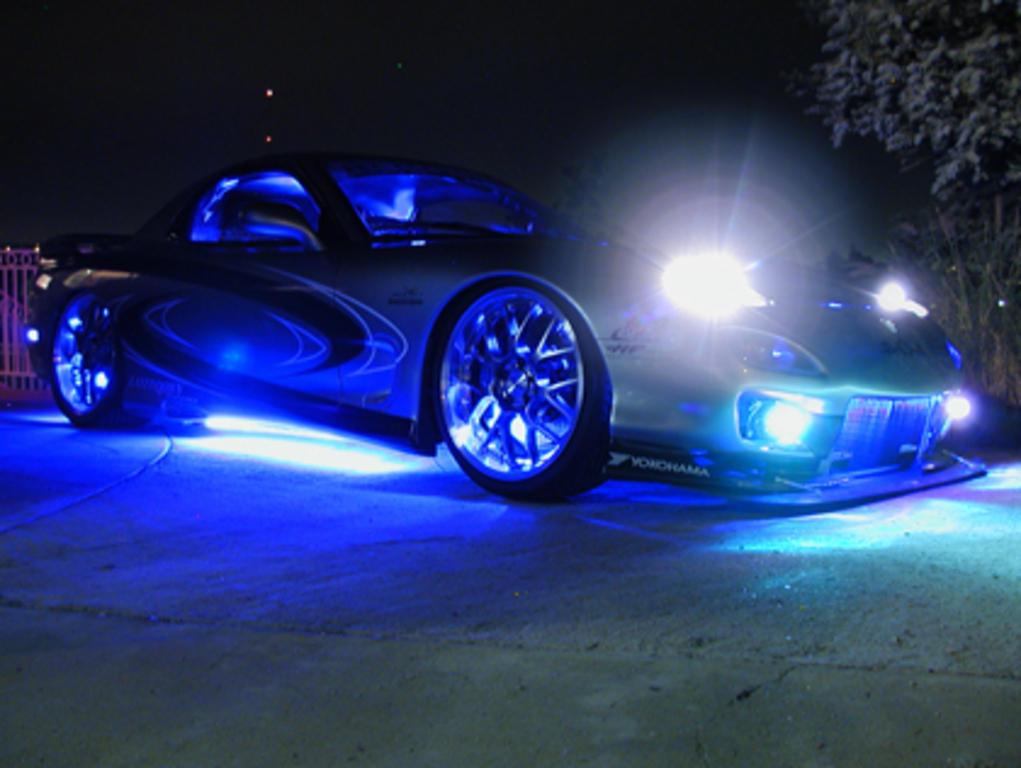 Lights Blue Car Your