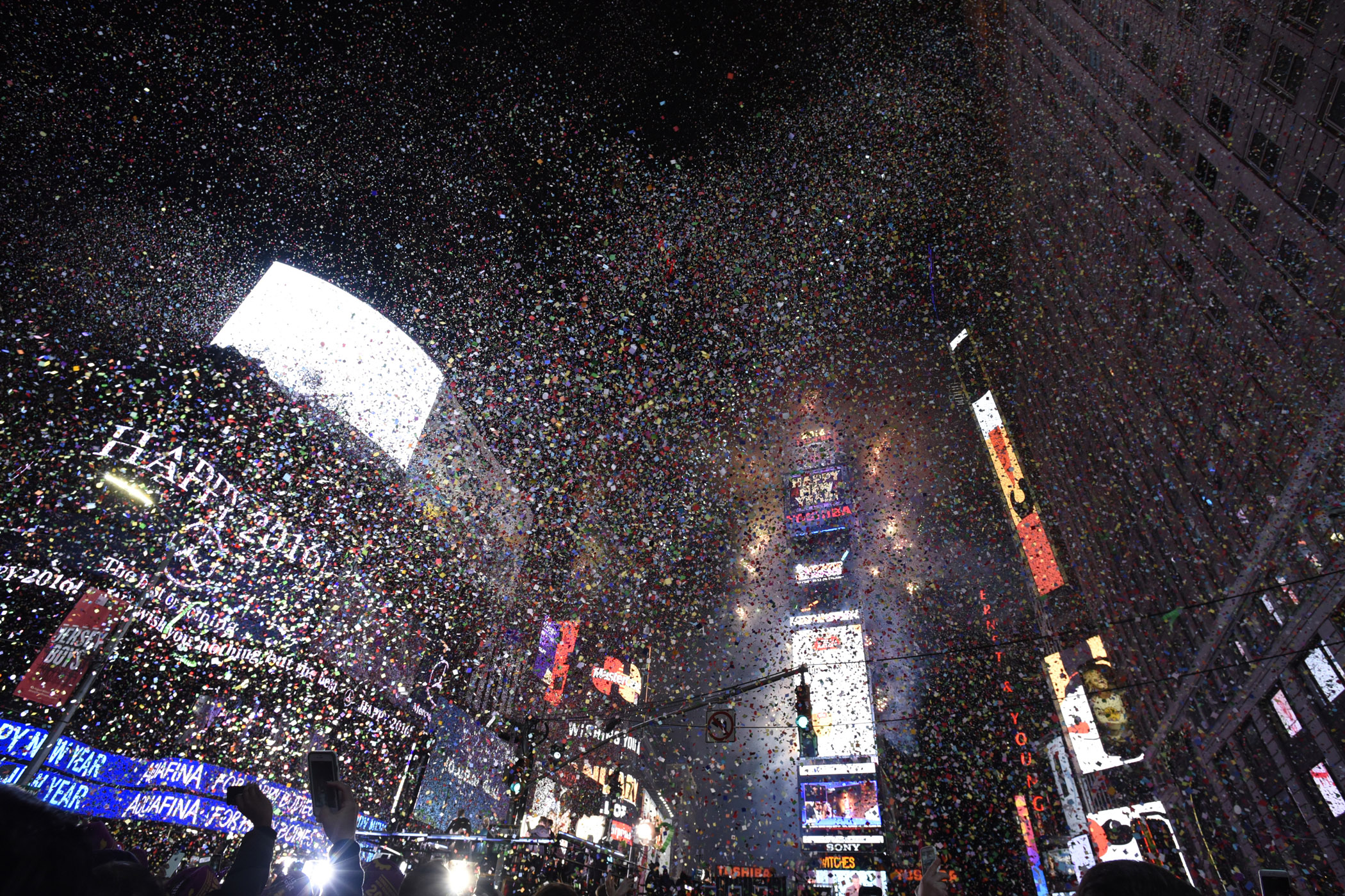 January 1st  2016  Times Square  New York  New York      CUA Media         New York City  TIMES SQUARE FIREWORKS