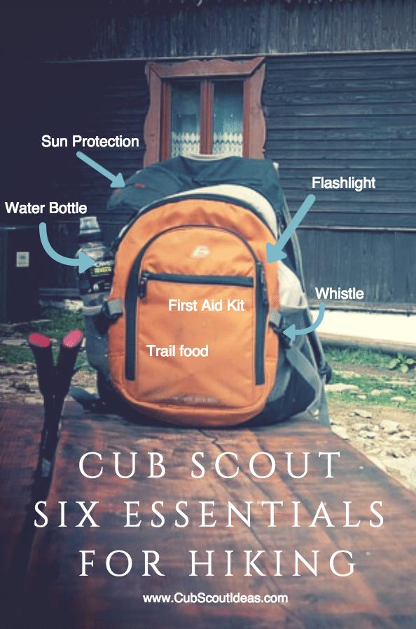 Cub Scout Six Essentials For Hiking Cub Scout Ideas