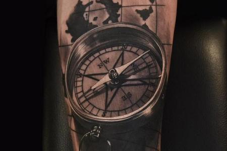 Geometric world map compass arrow nautical travel tattoo t how to use a compass steps with pictures wikihow geometric world map compass arrow nautical travel tattoo design more geometric world map compass arrow gumiabroncs Gallery