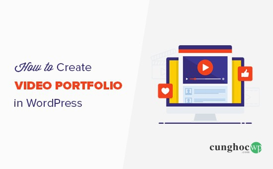 tạo video portfolio WordPress