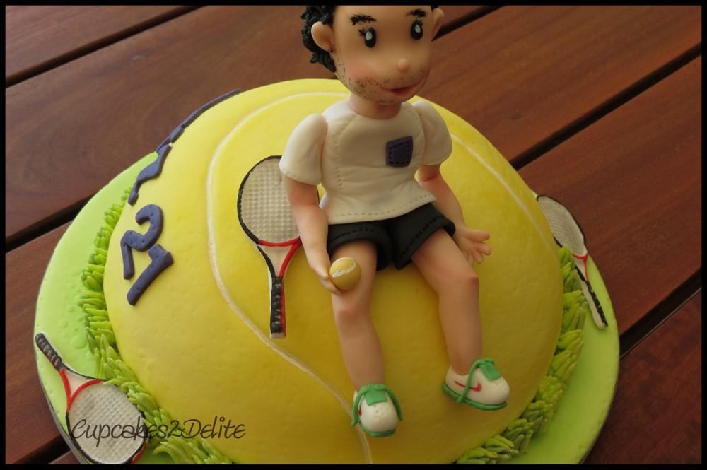 Tennis Themed Cake Cupcakes2delite