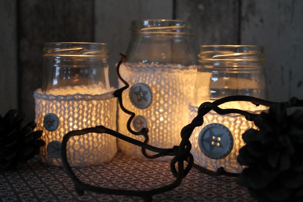 Gläser im Wollmäntelchen – Do it yourself cuplovecake