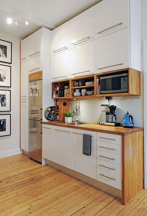 Small Kitchen Design Microwave