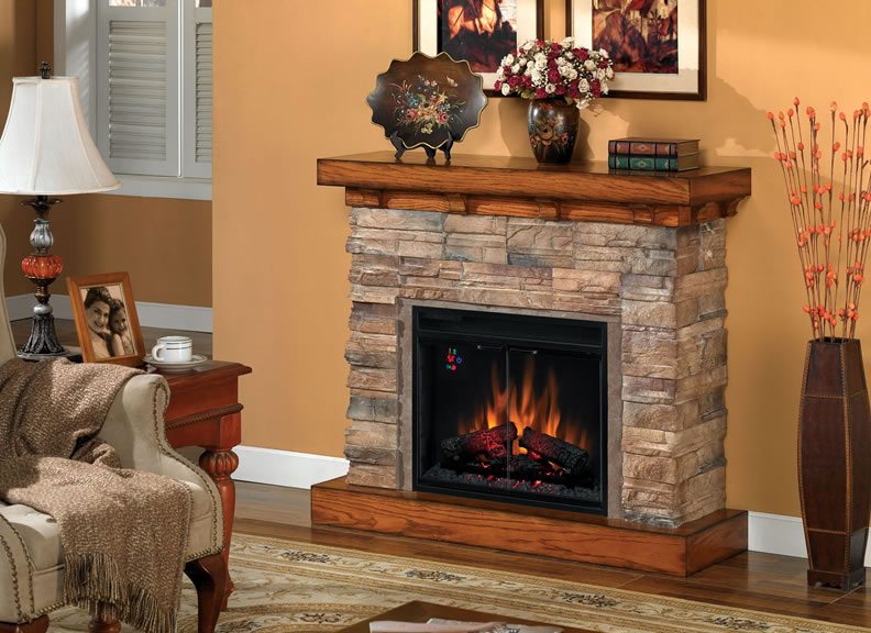 Electric Portable Fireplace Heaters On Custom Fireplace
