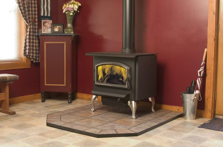 Franklin Wood Stove On Custom Fireplace Quality Electric