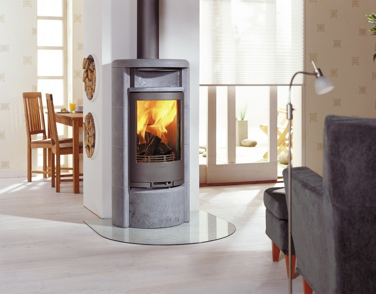 Hydronic Wood Stove On Custom Fireplace Quality Electric