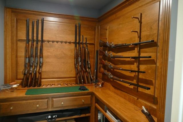 Custom Gun Room And Wall Units Amish Custom Gun Cabinets