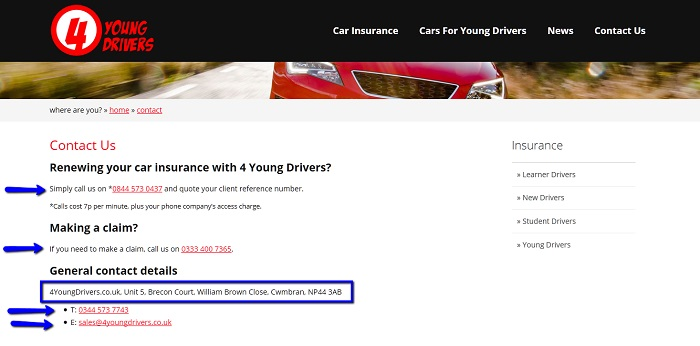 Car Insurance 0800 Numbers