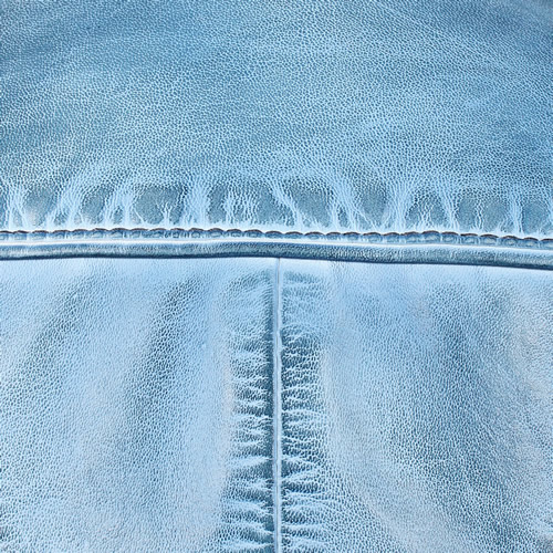 Denim Blue Washed Lambskin