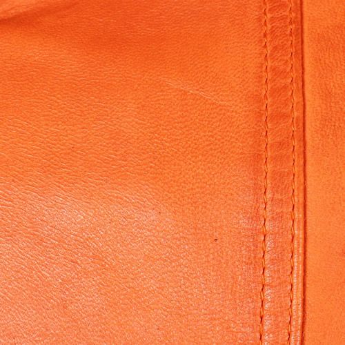Orange Washed Lambskin