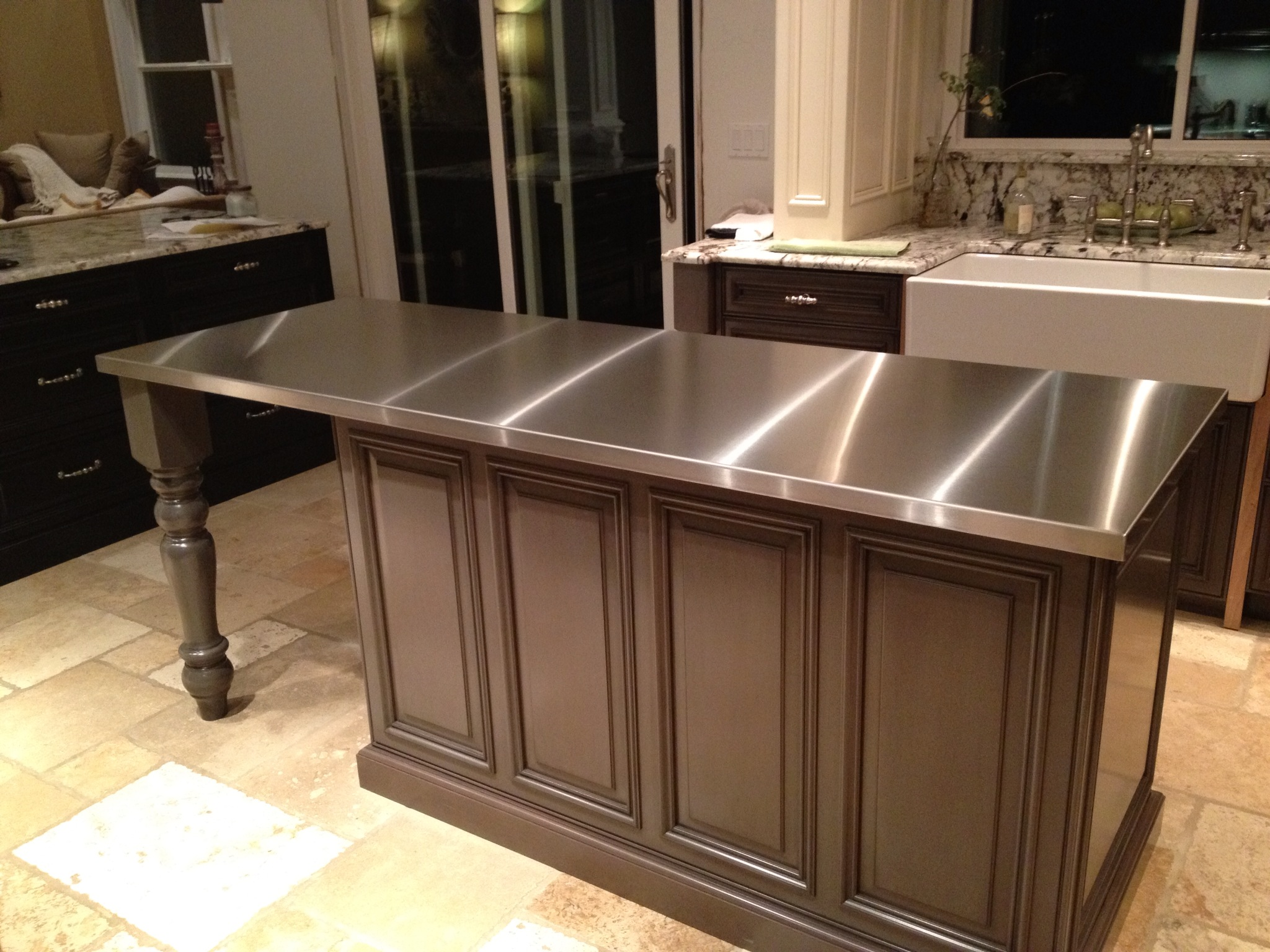 Kitchen Stainless Countertop Table