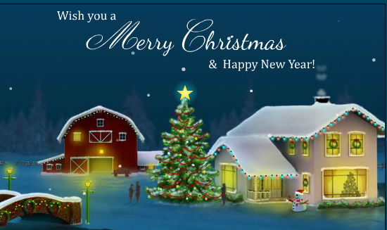 New Year Greetings Happy 2017 Merry Christmas And