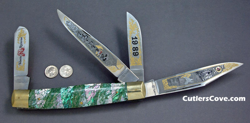 Frank Buster Fighting Rooster Knives