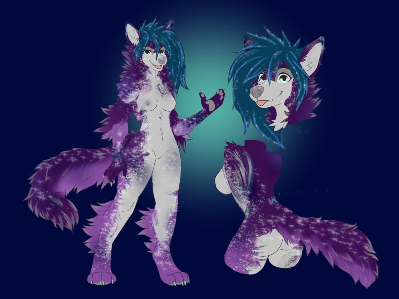 Dark purple galaxy wolf by FluffyMomma -- Fur Affinity ...