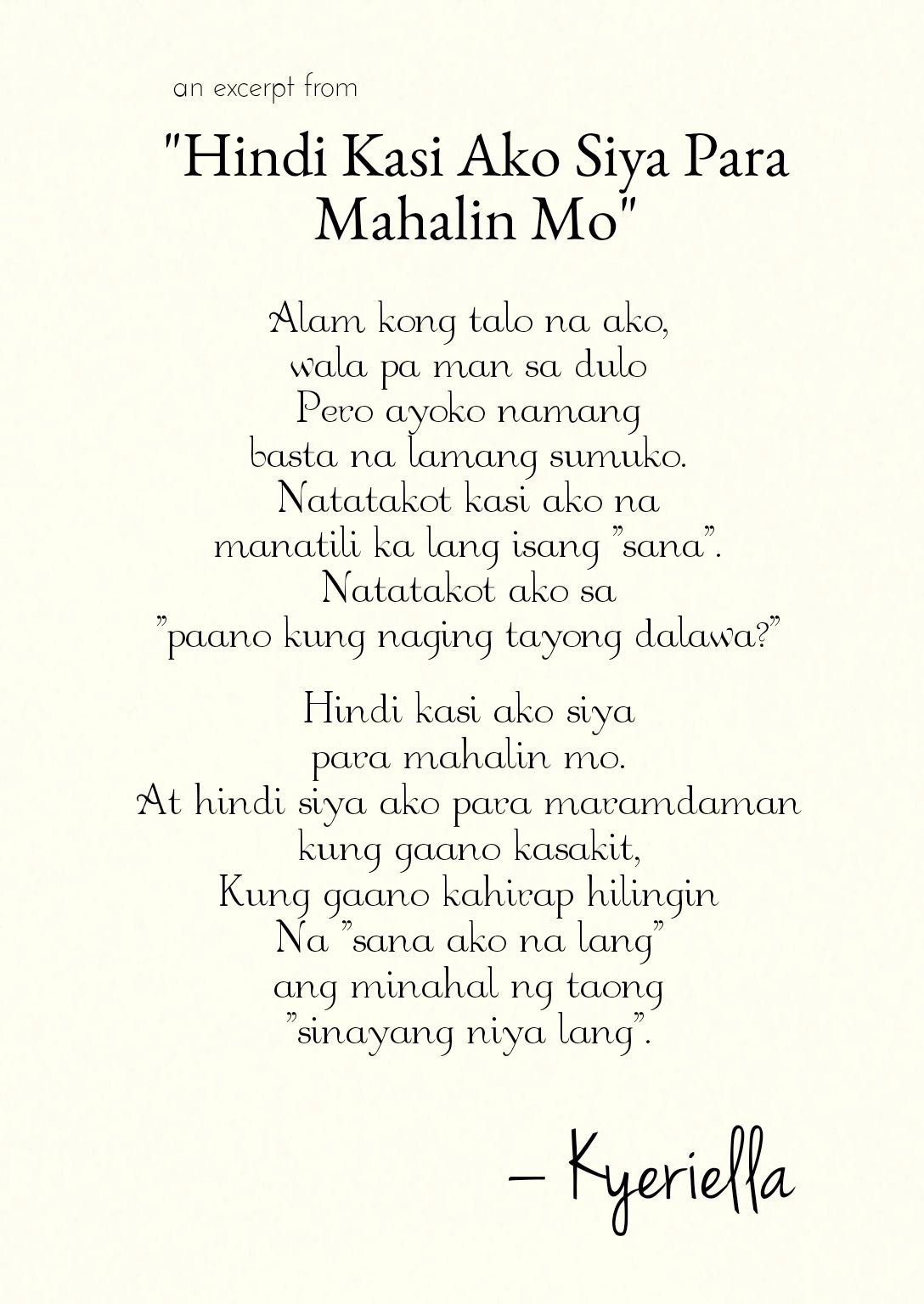 Love Poetry Wattpad Tagalog About Spoken