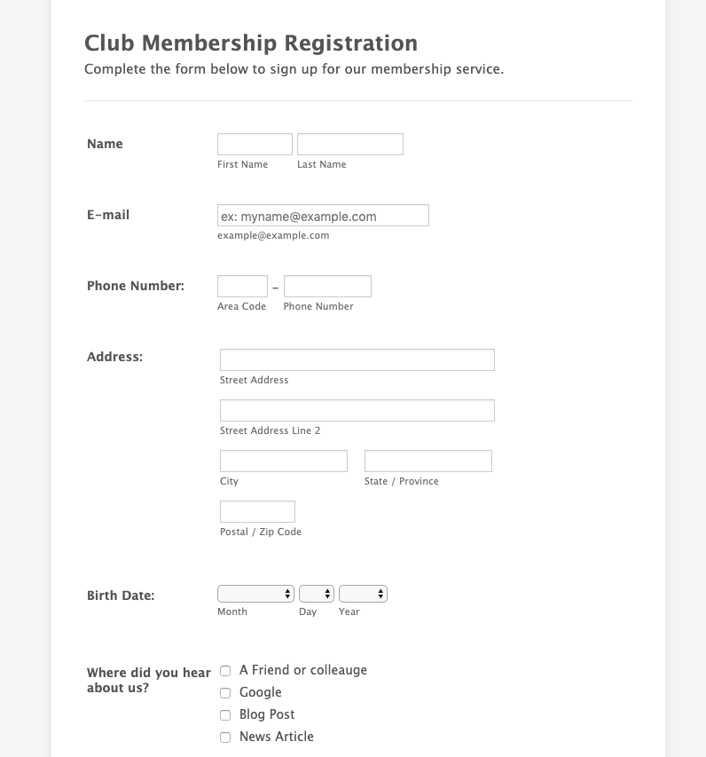 5 Expert Tips To Improve Your Membership Application Form ...