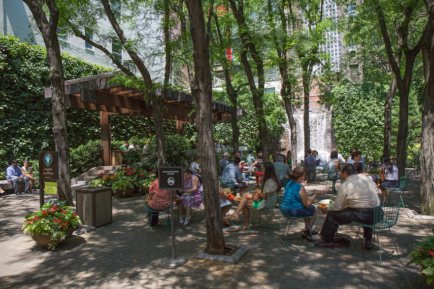 Greenacre Park Manhattan Sideways