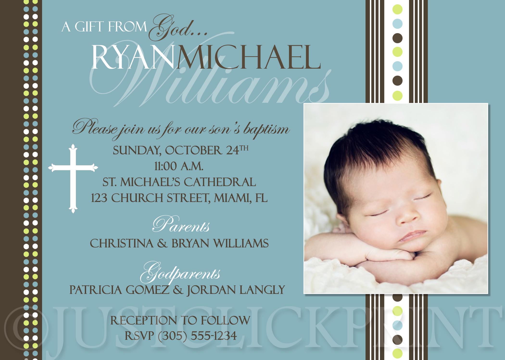 Baptism Invitations Ebay