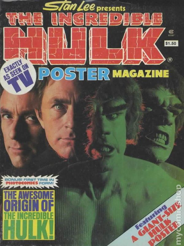 Incredible Hulk Poster Magazine 1978 Comic Books
