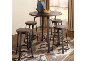 Spiller Furniture Mattress Challiman Rustic Brown Round Counter