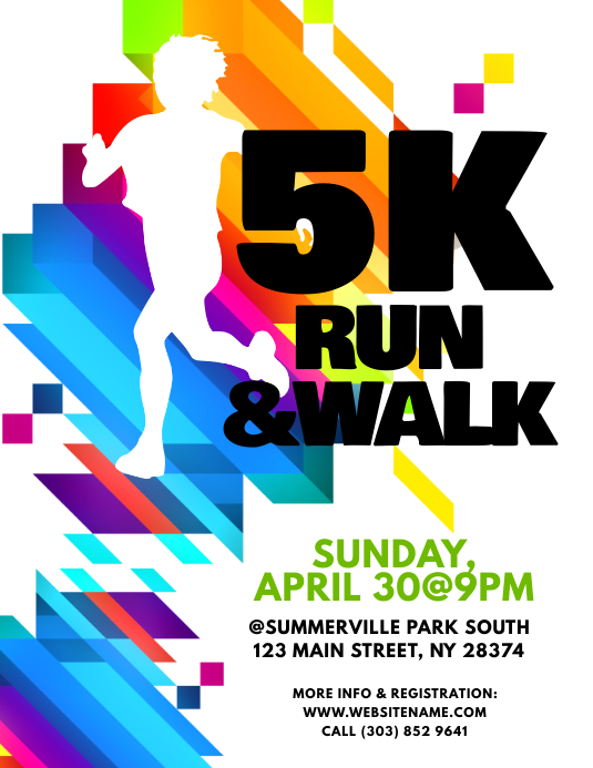 5k Run Flyer Template Boatremyeaton