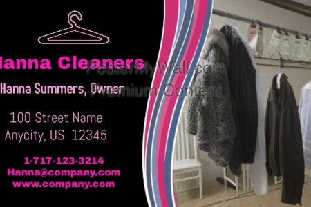 Hanna Cleaners Business Card Template   PosterMyWall Hanna Cleaners Business Card      Customize template