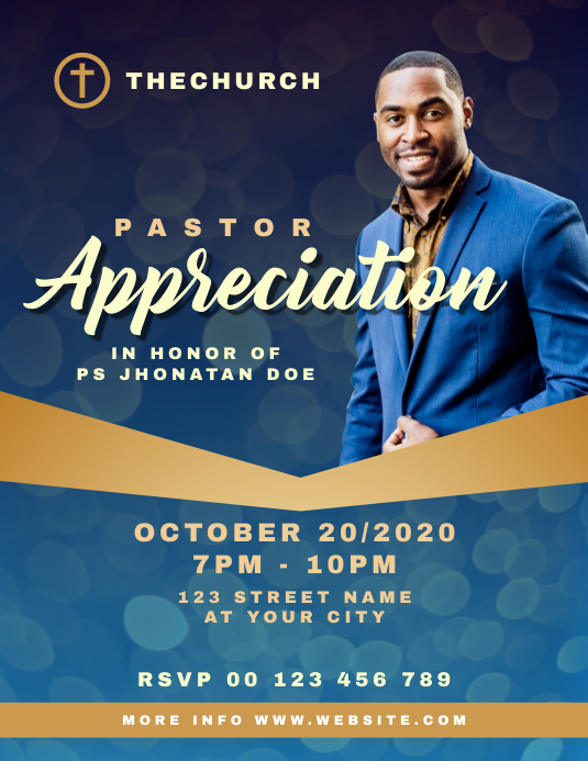 Appreciation Template Letter Pastor