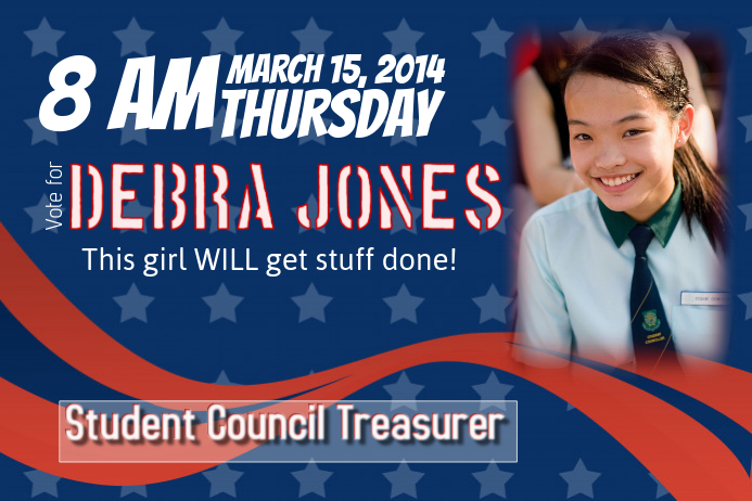 Elementary School Treasurer Campaign