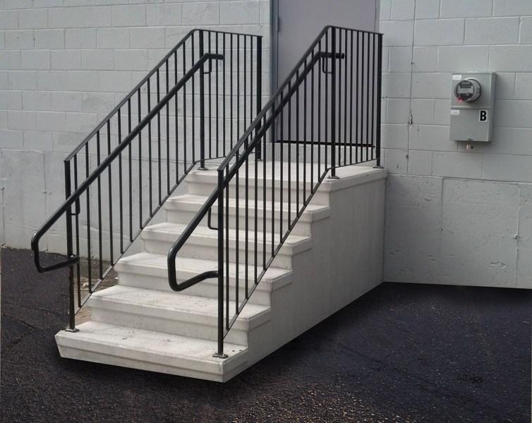 Precast Concrete Steps Concrete Products In Danbury Ct Mono | Handicap Rails For Steps | Grab Rail | Deck | Porch Railing | Bed Rails | Activated Led