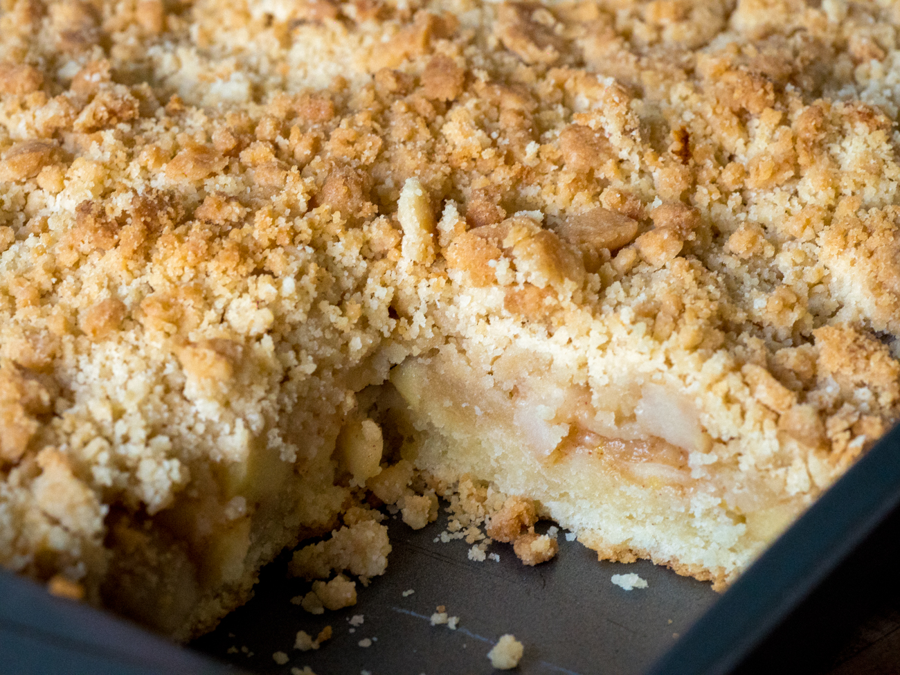 Easy Apple Streusel Cake German