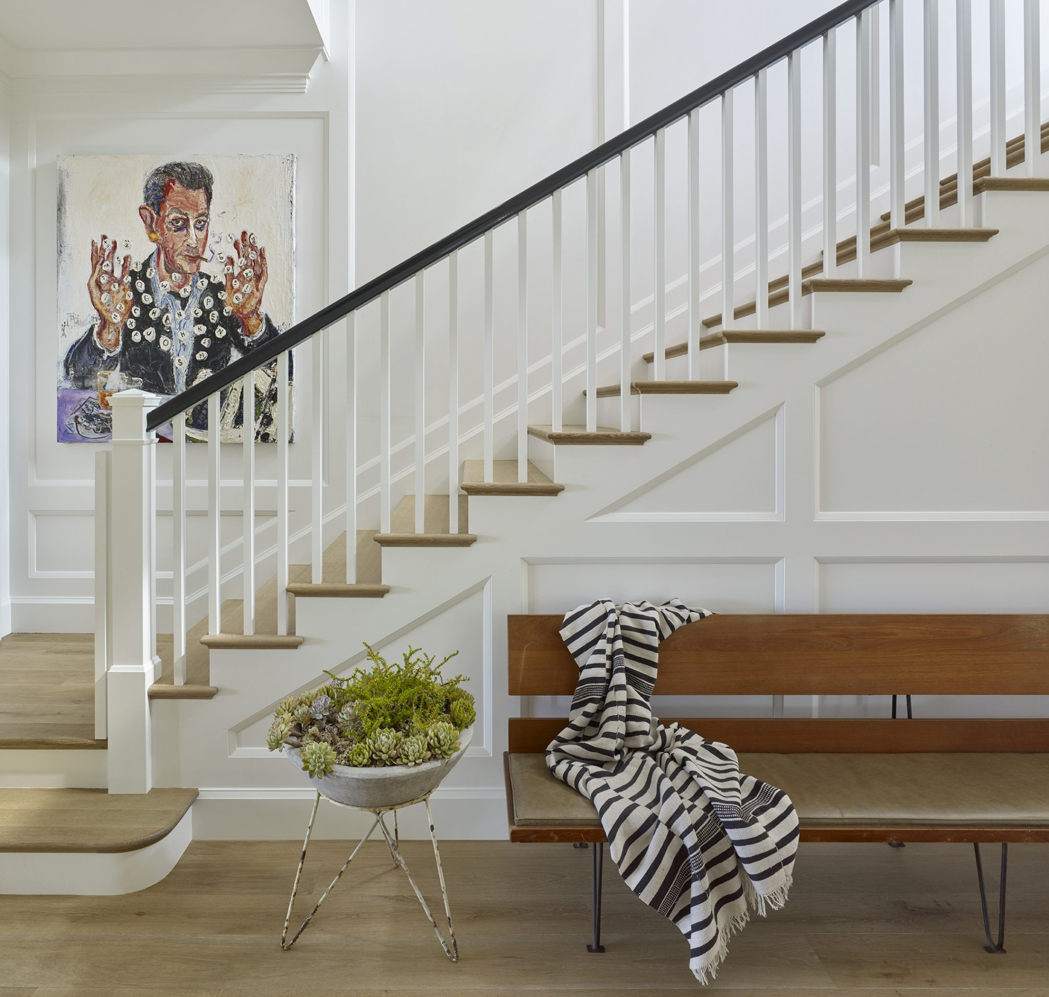 35 Stairwell Decorating Ideas Chairish Blog | Pacific Stairs And Railings | Architecture | Wire Mesh | Cad | Casey Brown | Modern Staircase