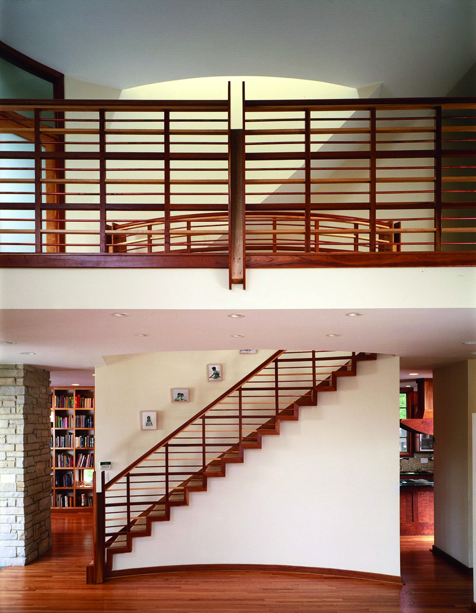 Unique Beautiful Banister Designs Chairish Blog   Staircase Handrail Wood Design   Wooden Balustrade   Modern   3 Story House   Internal Staircase Railing   Railing Colour