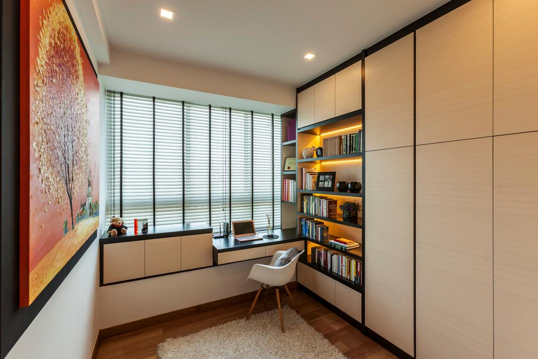 Built In Study Table   Interior Design Singapore   Interior Design Ideas Tribeca by the Waterfront  The Interior Lab  Modern  Study  Condo  Modern