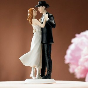 Country Western Cowboy Wedding Cake Topper Country Western Cowboy Wedding Cake Topper image