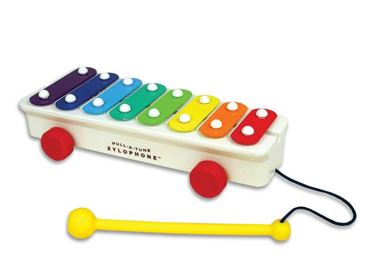 Retro Fisher Price Pull A Tune Xylophone