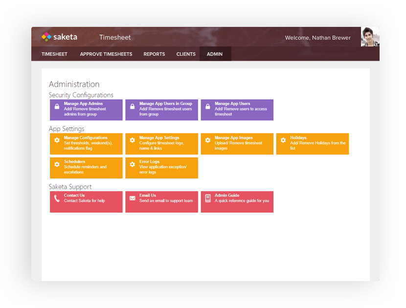 Saketa SharePoint Timesheet App   Time Tracking App View and assign the tasks for each project for every client
