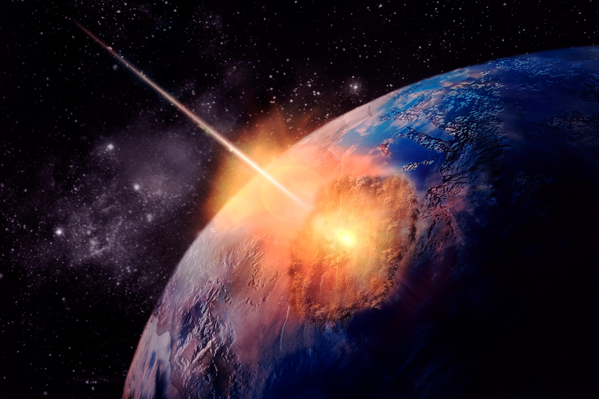 Damage Meteor Hitting Earth