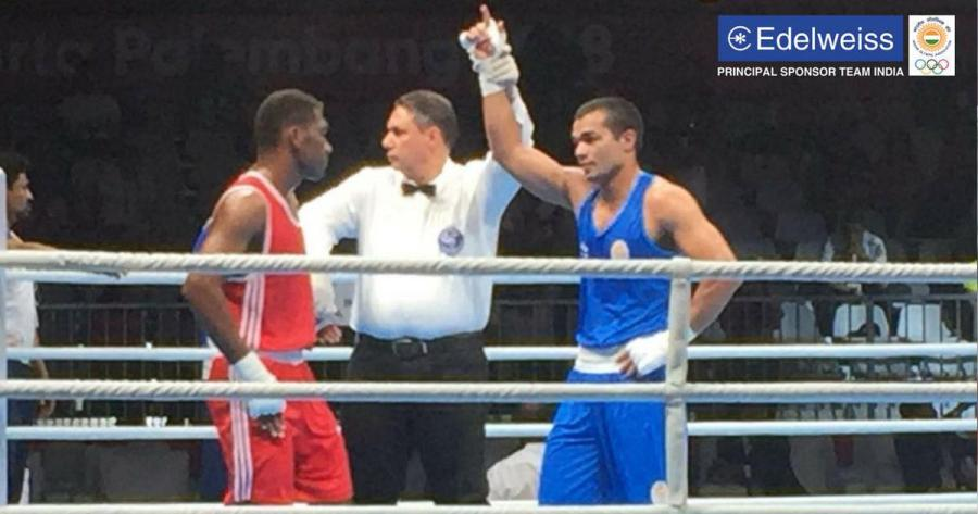 Asian Games boxing  Vikas Krishan  Dheeraj and Amit progress to     Asian Games boxing  Vikas  Dheeraj and Amit progress to quarter finals   Hussamuddin