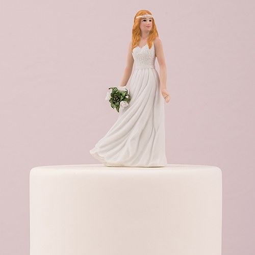 Trendy Bride Porcelain Figurine Wedding Cake Topper   The Knot Shop Trendy Bride Porcelain Figurine Wedding Cake Topper