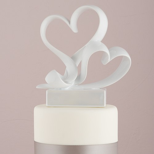 Love Link  Stylized Heart Cake Topper   The Knot Shop Love Link Stylized Heart Wedding Cake Topper