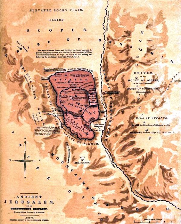 Mount Olives Bible Map