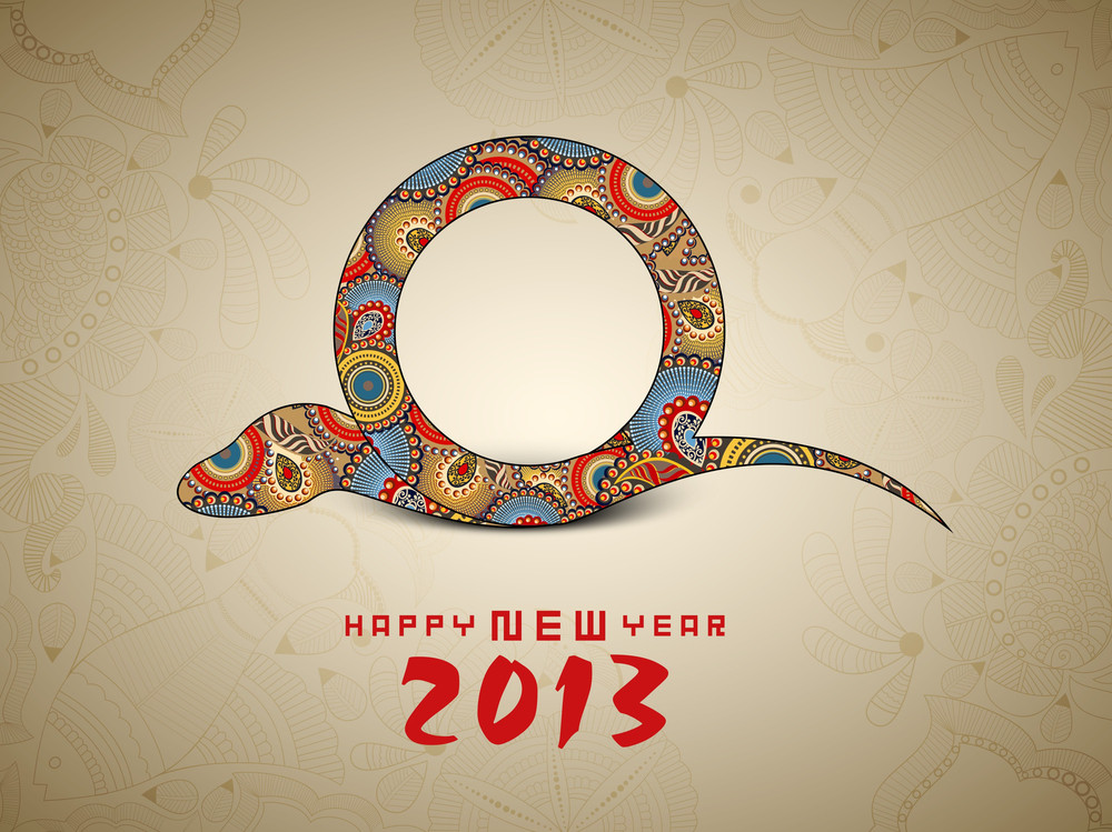 Happy New Year Background With 2013 New Year Symbol Snake Royalty     Happy New Year Background With 2013 New Year Symbol Snake
